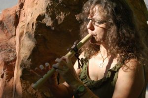 pic of Elaina playing the flute